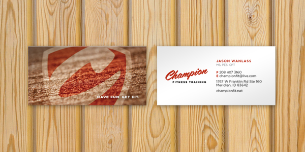 Champion Fitness Training Business Cards