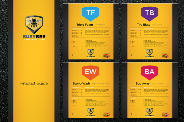 Busy Bee Product Guide and Labels